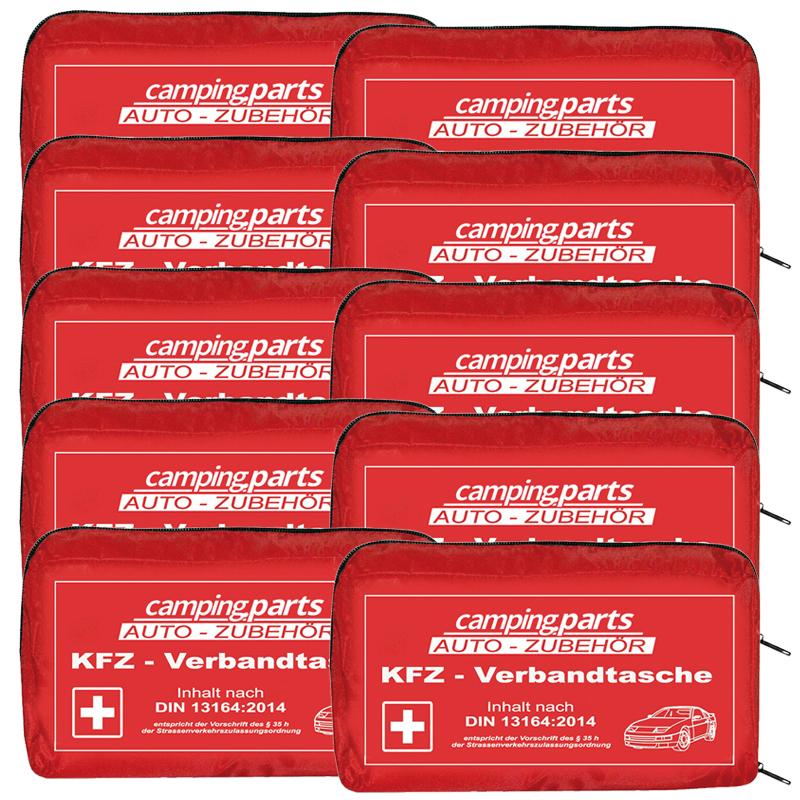 Auto Verbandskasten Verbandstasche KFZ Fahrzeug Verbandtasche DIN 13164 10x Rot