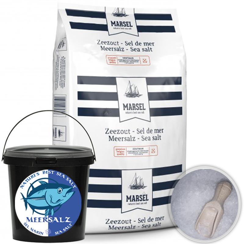 Premium Meersalz Grob Speisesalz Kochsalz Salzmühle Gewürz Eimer 1-3mm 1kg