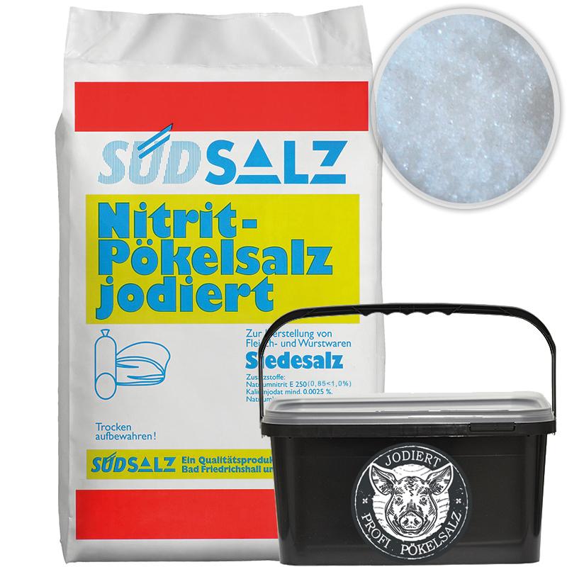 Profi Pökelsalz jodiert 0,85<1,0% Nitritsalz Siedesalz Pökeln Salz 5kg Eimer