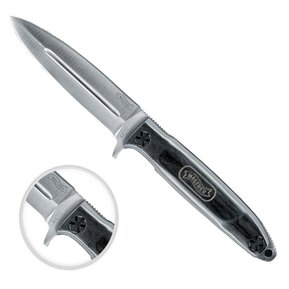 Walther BNK 4 Black Nature Knives Messer Outdoormesser 440C Vollintegralmesser