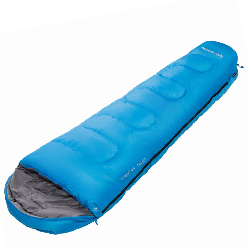 Kingcamp Schlafsack Treck 300 blau Camping Outdoor Mumien Polyester -13°C Grad