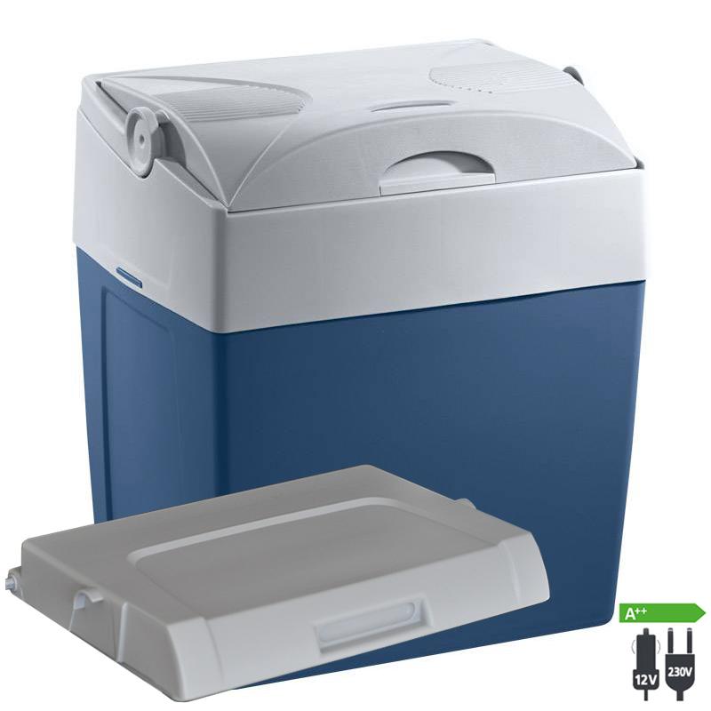 WAECO Mobicool V30 AC/DC Thermoelektrische Kühlbox 12|230 Volt blau Passivdeckel