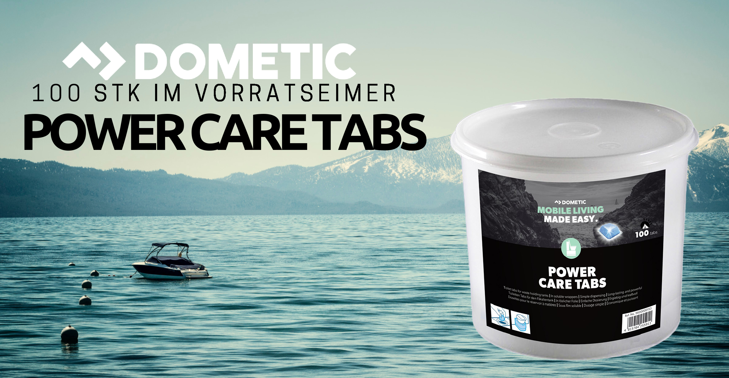 Dometic Power Care Tabs 100x im Vorratseimer