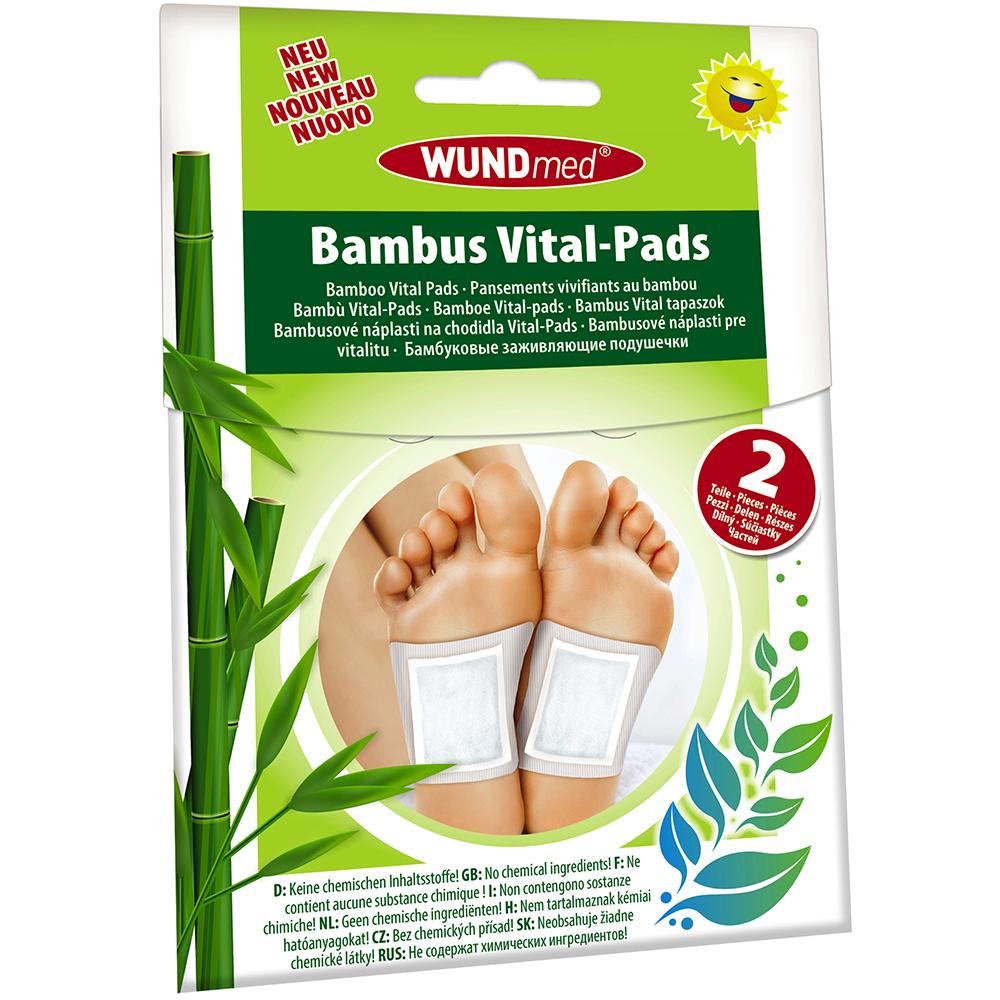 Bambus Vital Pads 2er Vital-Pads Wundmed Entgiftung Entschlackung Detox Wellness