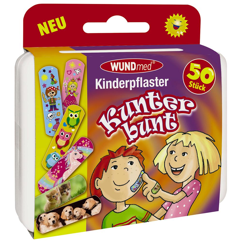 50 Kinderpflaster Klinikpackung Pflaster Kinder Wundpflaster Kunterbunt