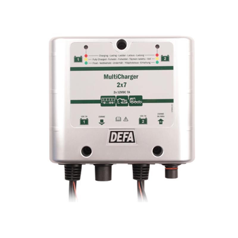 Waeco Dometic Defa MultiCharger 2x7A 230V Plugin Batterielader 12V DC