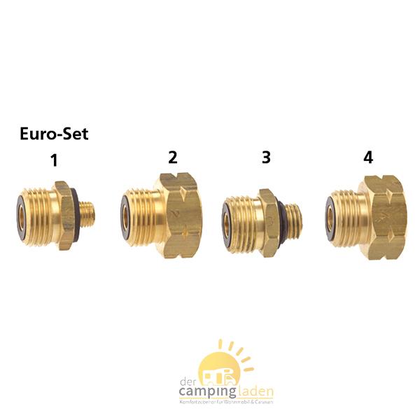 GOK Euro-Set Propangasflasche Adapter Stutzen Gasflasche Übergang Europa Ausland