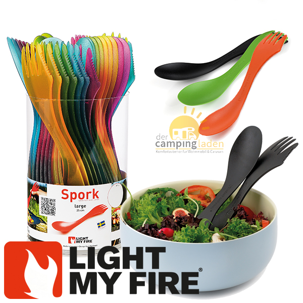 Light My Fire Spork L 25cm Outdoor Göffel Messer Gabel Löffel in Farbauswahl