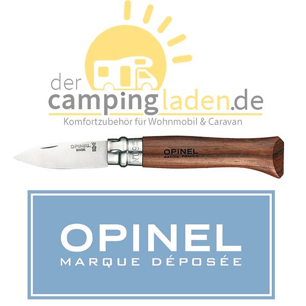 Opinel Austern-Messer Größe 9 rostfrei Stahl 12C27 Sandvik mit Bubinga-Holzgriff