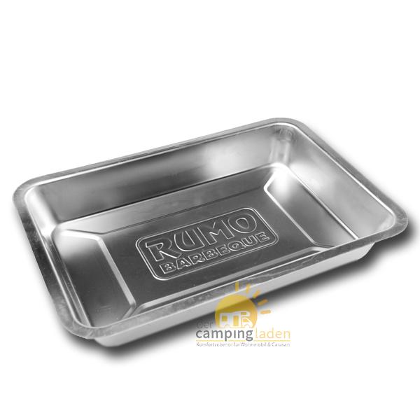 Rumo Edelstahl Tropf & Marinadenschale Multifunktionsschale BBQ Grill Smoker