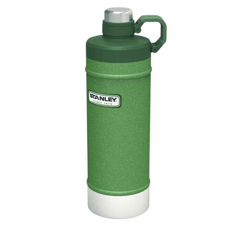 Stanley Classic Vakuum - Wasserflasche 0,62 Liter 18/8 Edelstahl Hammertone grün