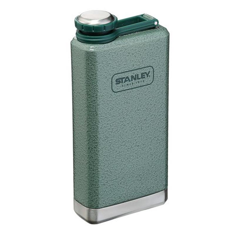 Stanley Adventure Taschenflasche 236 ml Edelstahl, Auslaufsicher, Flachmann grün