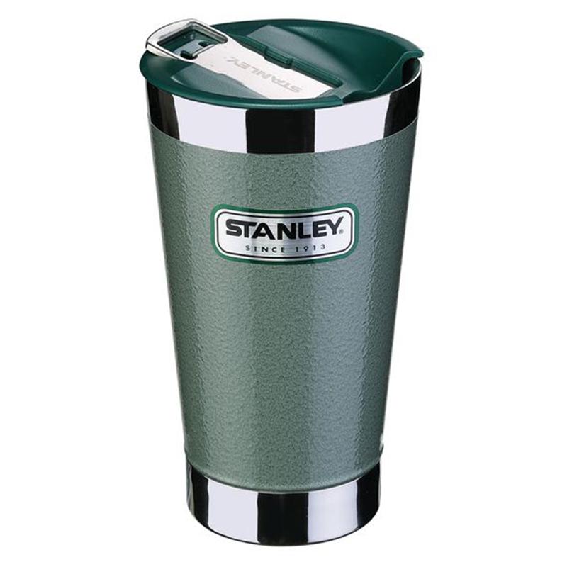 Stanley VACCUM PINT Becher 18/8 Edelstahl Vakuum-Isolation, Flaschenöffner, grün