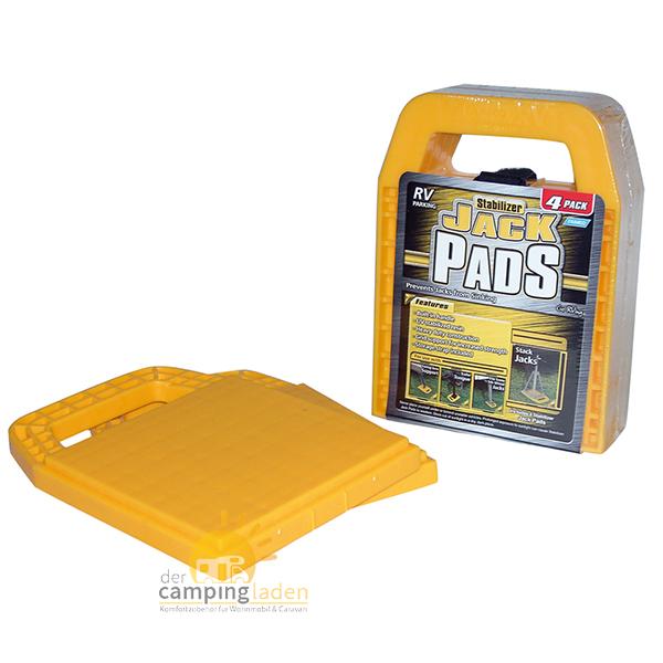Stützplattenset Jack Pads gelb Platten für Kurbelstützen 4 Stück Caravan