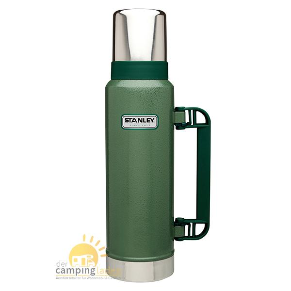 Stanley Thermosflasche Vakuum-Flasche, 1,3Ltr, 18/8 Edelstahl, Thermoskanne grün