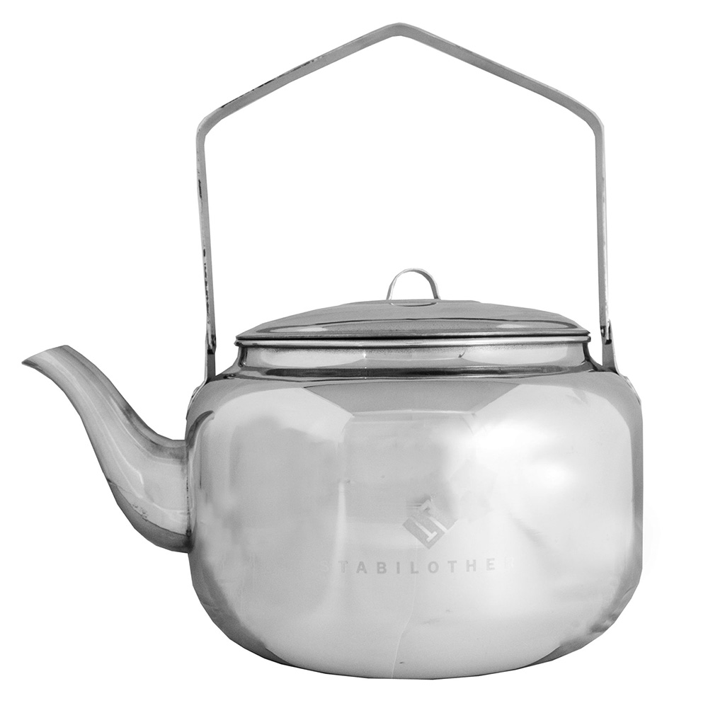 Stabilotherm Wasserkessel 1,0L Teekessel Wasserkocher Kaffee Camping Edelstahl