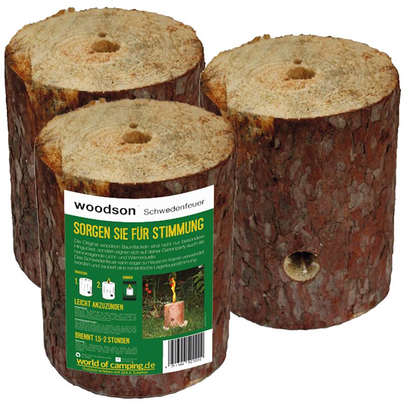 Schwedenfeuer Feuer Baumfackel Gartenfackel Finnenfackel Outdoor Woodson 3Stk