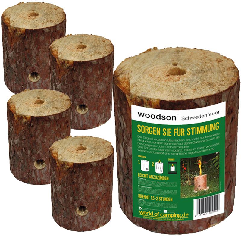 Schwedenfeuer Feuer Baumfackel Gartenfackel Finnenfackel Outdoor Woodson 5Stk